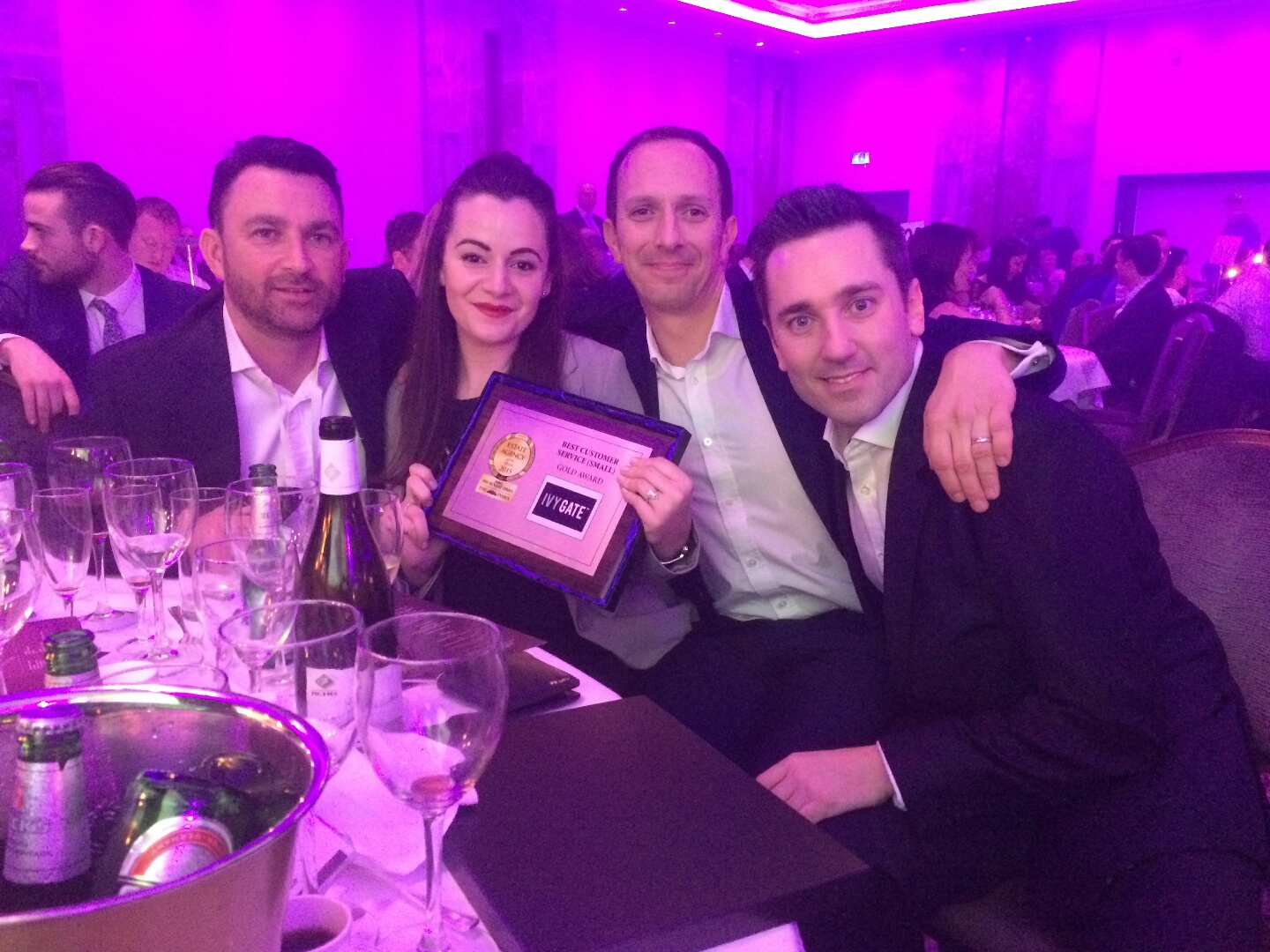 Ivy Gate win GOLD at the Estate Agent of the year awards 2015.