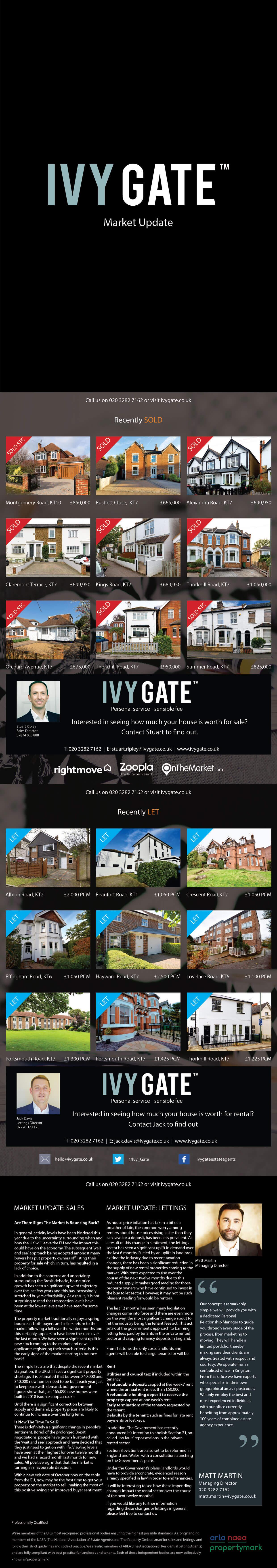 Ivy Gate Market Report Summer 2019 - KT1/KT2/KT6/KT7/KT10